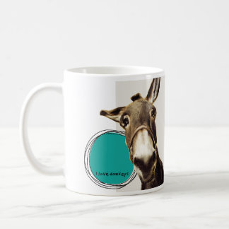 I love donkeys coffee mug