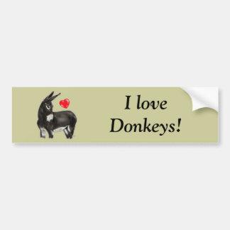 I Love Donkeys Demure Donkey Bumper Sticker