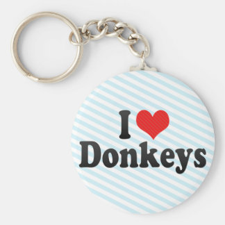 I Love Donkeys Key Ring