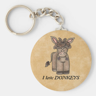 I love DONKEYS keychain