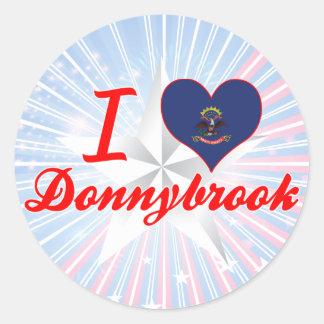 I Love Donnybrook, North Dakota Round Stickers