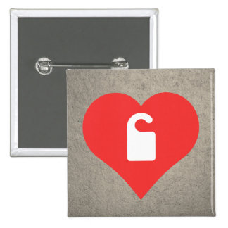 I Love Don'T Disturb Signs Design 15 Cm Square Badge
