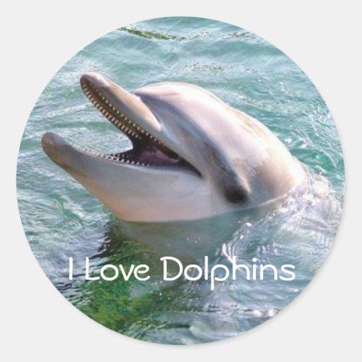 I Love Dophins Sticker