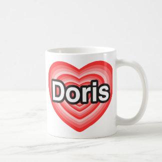 I love Doris. I love you Doris. Heart Coffee Mug