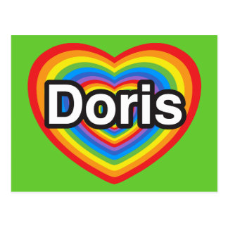 I love Doris I love you Doris Heart Postcards
