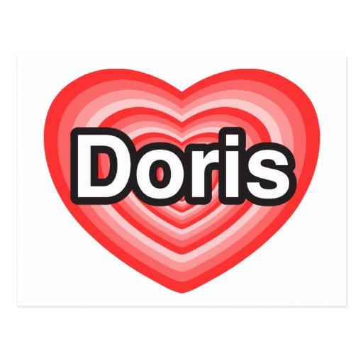 I love Doris. I love you Doris. Heart Postcards