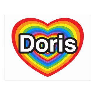 I love Doris I love you Doris Heart Post Card