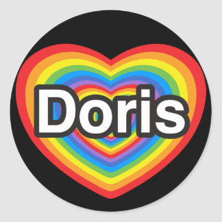 I love Doris I love you Doris Heart Round Sticker