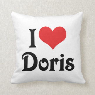 I Love Doris Throw Cushions