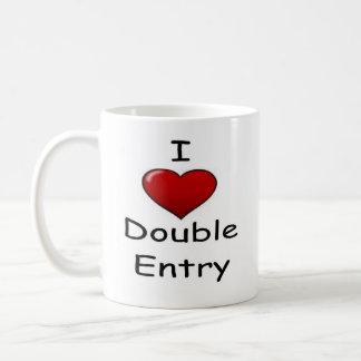 I Love Double Entry (2) Basic White Mug