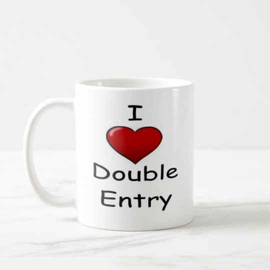 I Love Double Entry (2) Coffee Mug