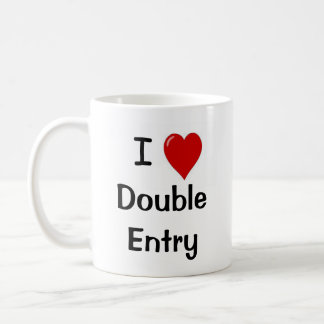 I Love Double Entry Funny Accountant Mug