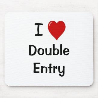 I Love Double Entry zazzle_mousepad