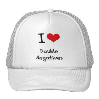 I Love Double Negatives Mesh Hats