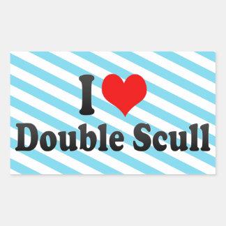 I love Double Scull Sticker