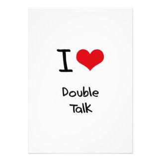 I Love Double Talk Invitations