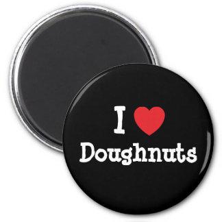 I love Doughnuts heart T-Shirt Magnet