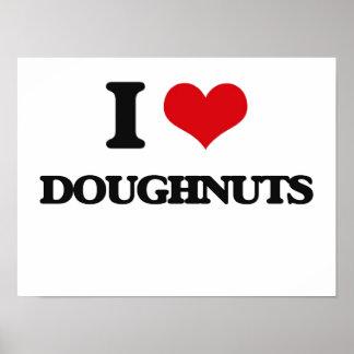 I Love Doughnuts Print