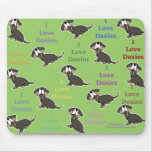 I Love Doxies collage Mouse Pad
