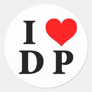 I Love DP Round Sticker