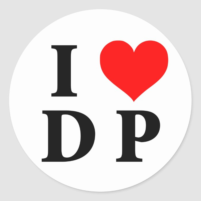 I Love DP Round Sticker
