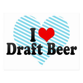 I Love Draft Beer Postcards