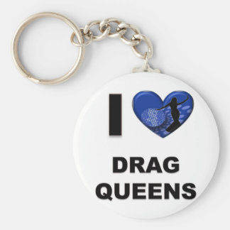 I Love Drag Queens Basic Round Button Key Ring