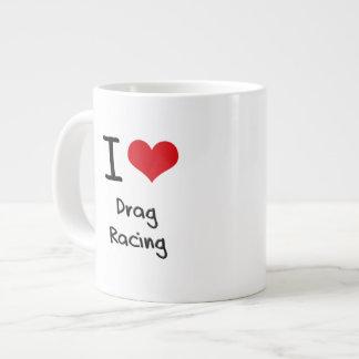 I Love Drag Racing Jumbo Mug