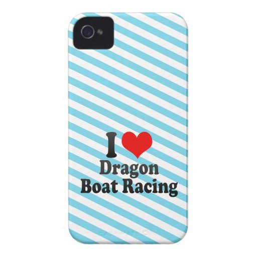 I love Dragon Boat Racing Case-Mate iPhone 4 Cases