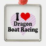 I love Dragon Boat Racing Christmas Tree Ornaments