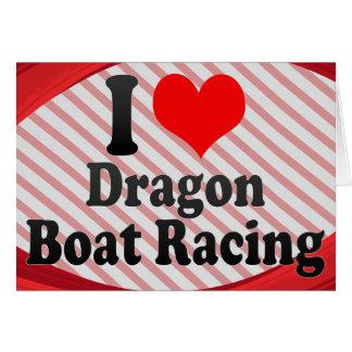 I love Dragon Boat Racing Note Card