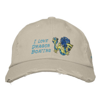 I Love  Dragon Boating Embroidered Baseball Cap