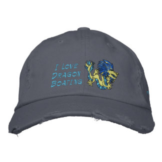 I Love  Dragon Boating Embroidered Cap