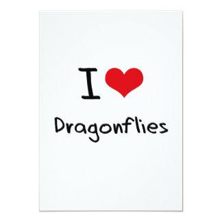 I Love Dragonflies 13 Cm X 18 Cm Invitation Card