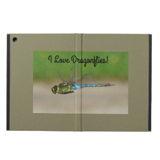I Love Dragonflies, Blue & Green Cover For iPad Air