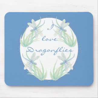 I love  Dragonflies in Blue and Green Watercolor Mouse Pad