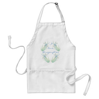 I love  Dragonflies in Blue and Green Watercolor Standard Apron