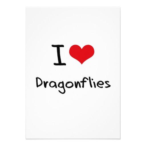 I Love Dragonflies Custom Announcements