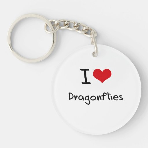 I Love Dragonflies Acrylic Keychains