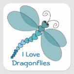 I Love Dragonflies Stickers