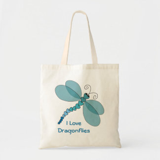 I Love Dragonflies Tote Bag