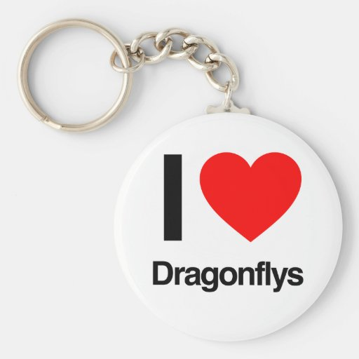 i love dragonflys key chains