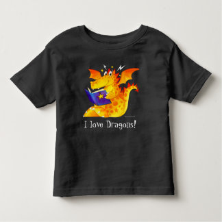 I Love Dragons! - Cute Custom Kid's Funny Dragon Toddler T-Shirt