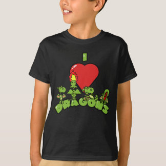 I Love Dragons Kids Tee