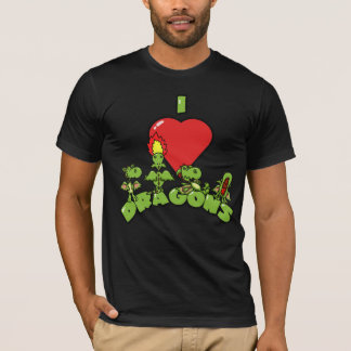 I Love Dragons Men's Tee