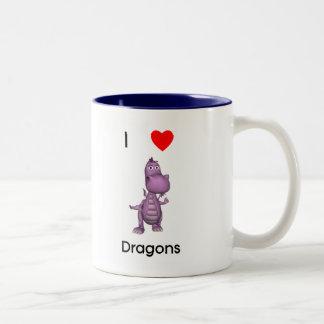 I love dragons Two-Tone coffee mug
