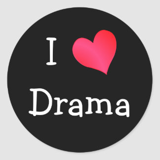 I Love Drama Classic Round Sticker