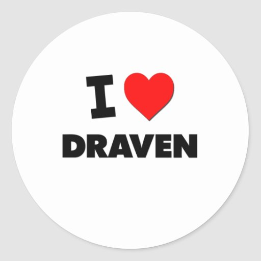 I love Draven Sticker