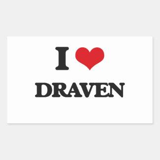 I Love Draven Rectangular Sticker