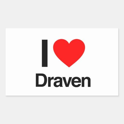 i love draven rectangle stickers